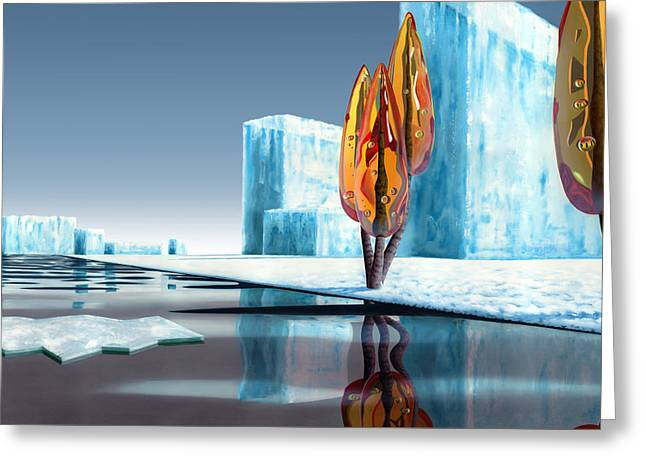 Taxus Glacialis Greeting Card by Patricia Van Lubeck