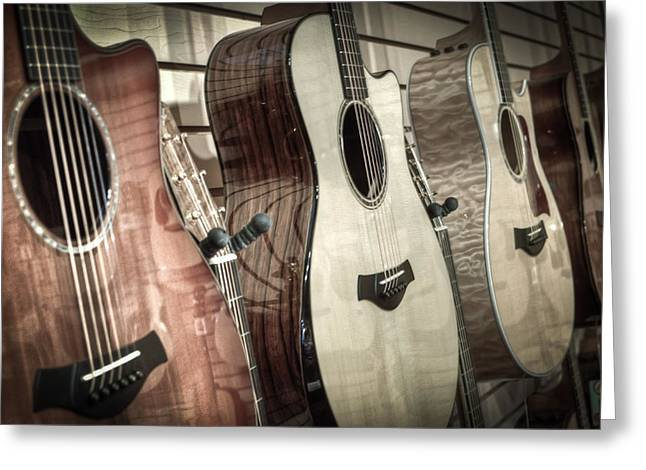 Music Store Greeting Cards - Taylor Greeting Card by David  England
