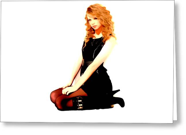 Recently Sold -  - Pop Singer Greeting Cards - Taylor Swift 6f Greeting Card by Brian Reaves
