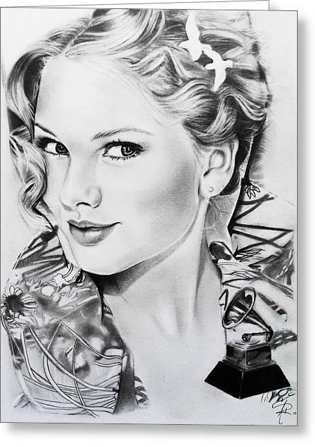 Taylor Swift Greeting Card by Andrea Realpe