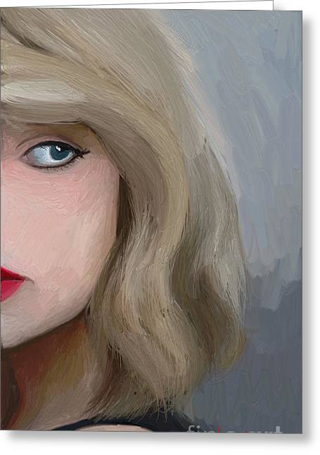 Taylor Swift  Greeting Card by Barbara Stanley