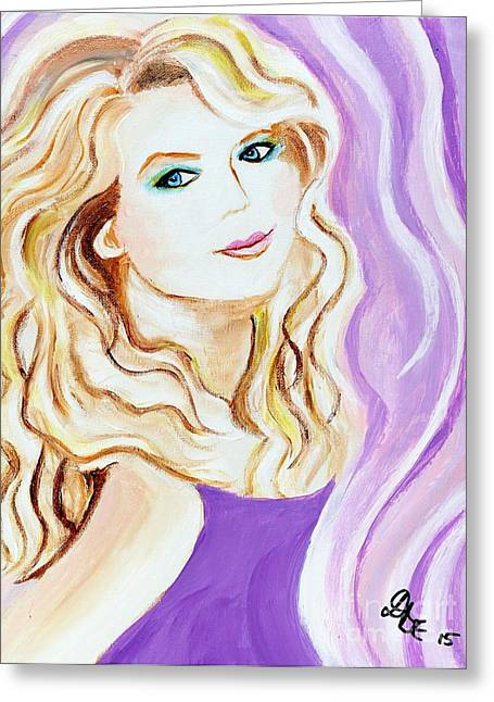Taylor Swift Paintings Greeting Cards - Taylor Swift Greeting Card by Art by Danielle