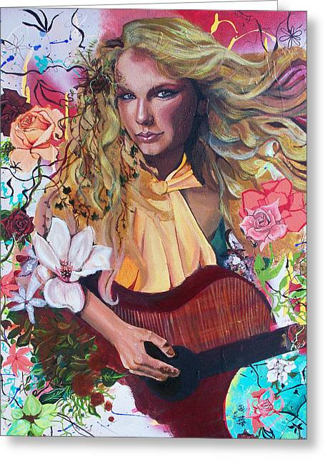 Taylor Swift Greeting Card by Lauren Penha