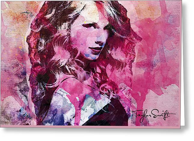 Taylor Swift - Oncore Greeting Card by Sir Josef Social Critic - ART