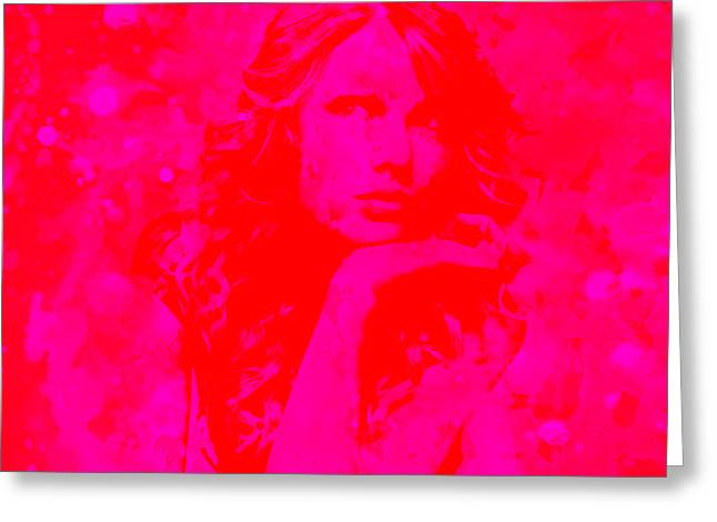 Taylor Swift Paintings Greeting Cards - Taylor Swift Paint Splatter 2g Greeting Card by Brian Reaves