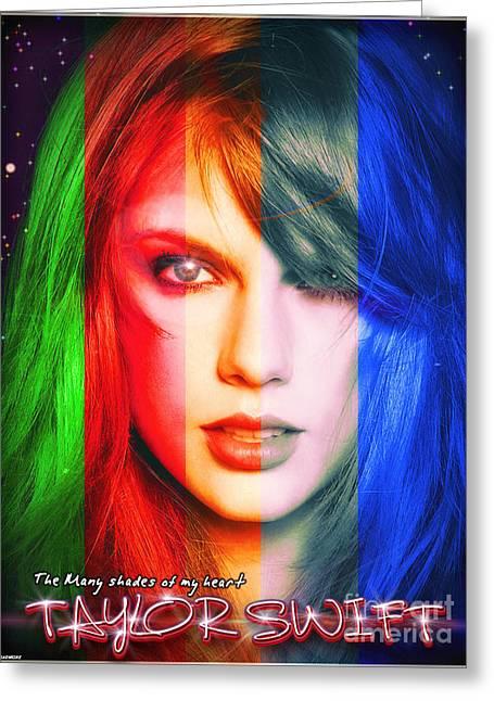 Taylor Swift - Sparks Alt Version Greeting Card by Robert Radmore