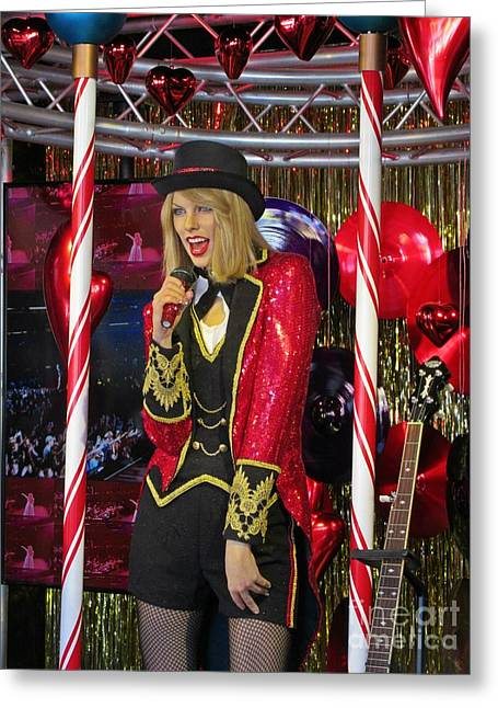 Pop Singer Sculptures Greeting Cards - Taylor Swift Wax Figure Greeting Card by Crystal Loppie