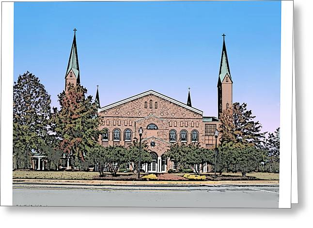 Taylors First Baptist Church Greeting Card by Greg Joens
