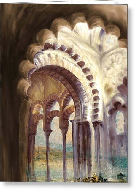 Tcm Spanish 158 4 Greeting Card by Mawra Tahreem