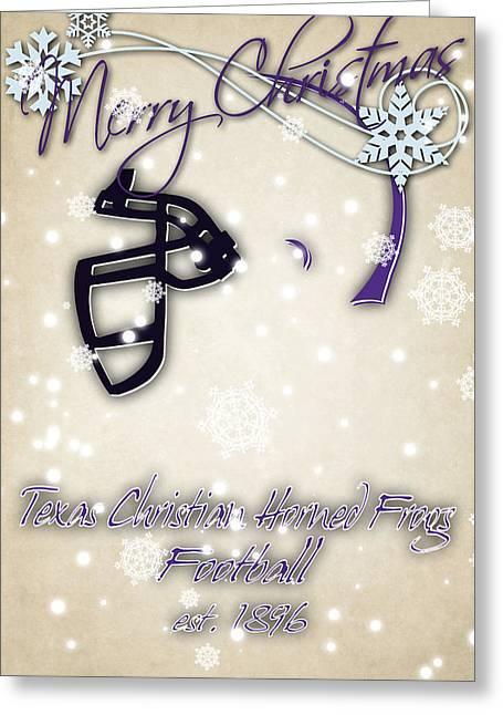Tcu Horned Frogs Christmas Card 2 Greeting Card by Joe Hamilton