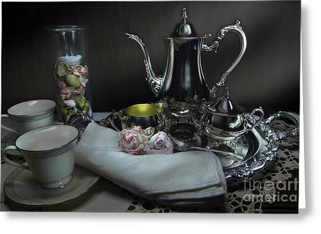 Bedroom Art Greeting Cards - Tea Anyone Greeting Card by Timothy Hacker