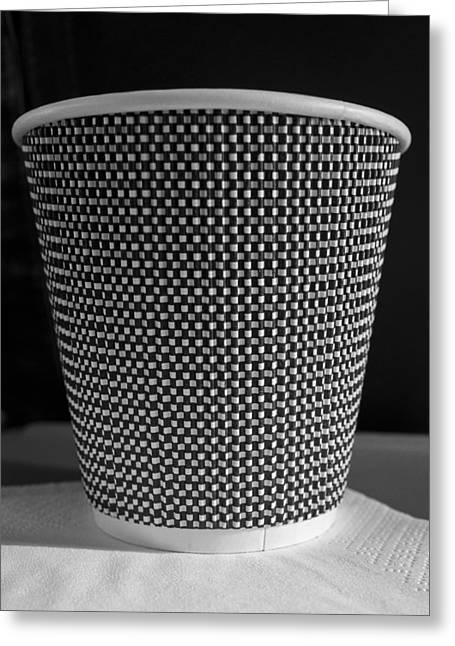 Cardboard Greeting Cards - Tea - Coffee cup Greeting Card by Steven Ralser