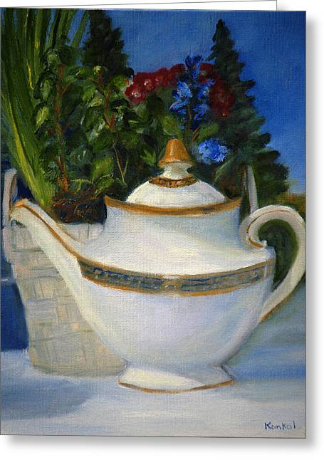 Tea For Two Greeting Cards - Tea for Two Greeting Card by Lisa Konkol