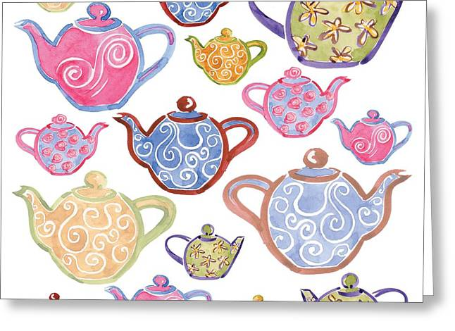 Different Groups Greeting Cards - Tea For Two Greeting Card by Sarah Hough
