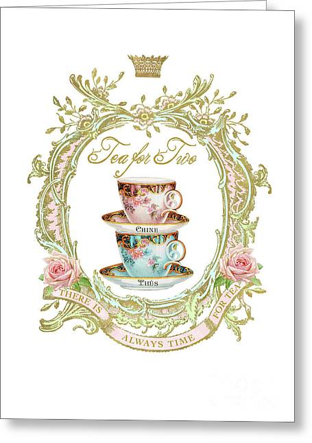 Tea For Two Greeting Card by Wendy Paula Patterson