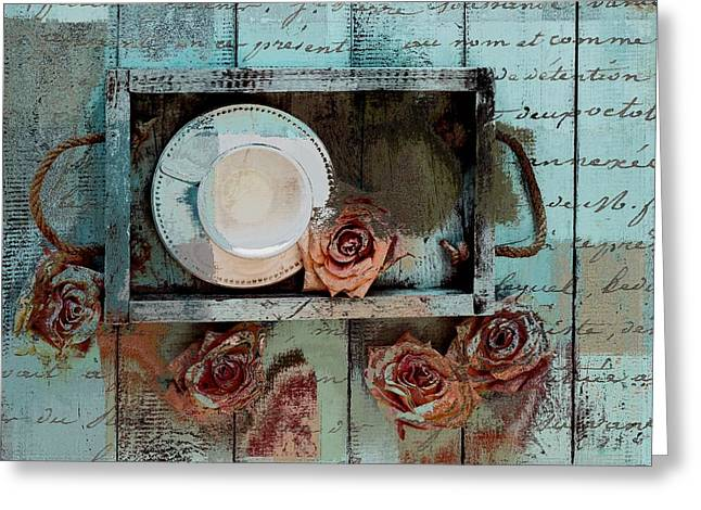 Duo Greeting Cards - Tea Time - 043087070-add222 Greeting Card by Variance Collections