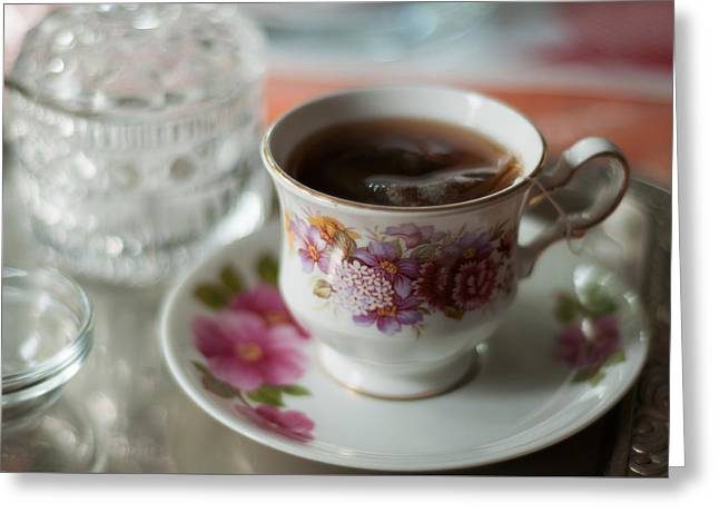 Deutschland Greeting Cards - Tea Time at Grandmothers Greeting Card by Miguel Winterpacht