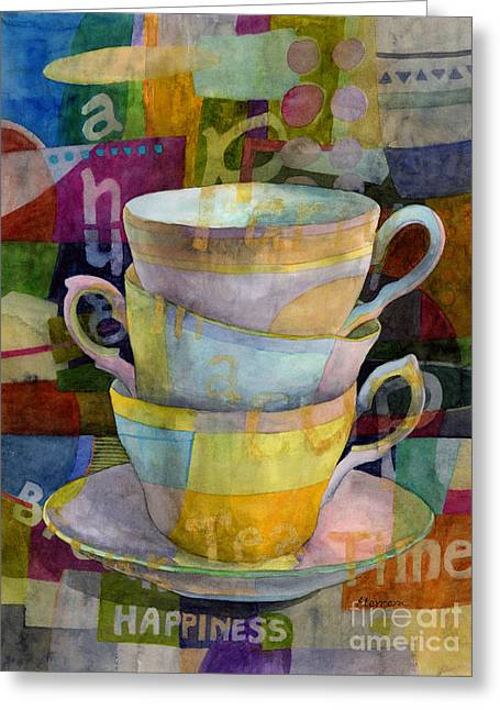 Tea Time Greeting Card by Hailey E Herrera