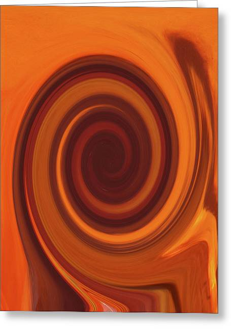 James R Granberry Greeting Cards - Tea Twirl Right Greeting Card by James Granberry