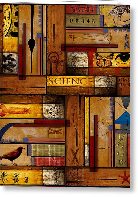Yellow Brown Greeting Cards - Teacher - Science Greeting Card by Carol Leigh