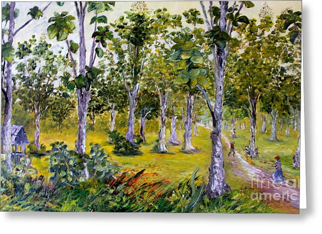 Teak Trees Greeting Card by Jason Sentuf