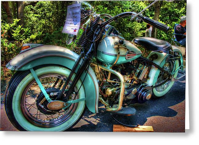 Handle Bar Greeting Cards - Teal Ride Greeting Card by Joetta West