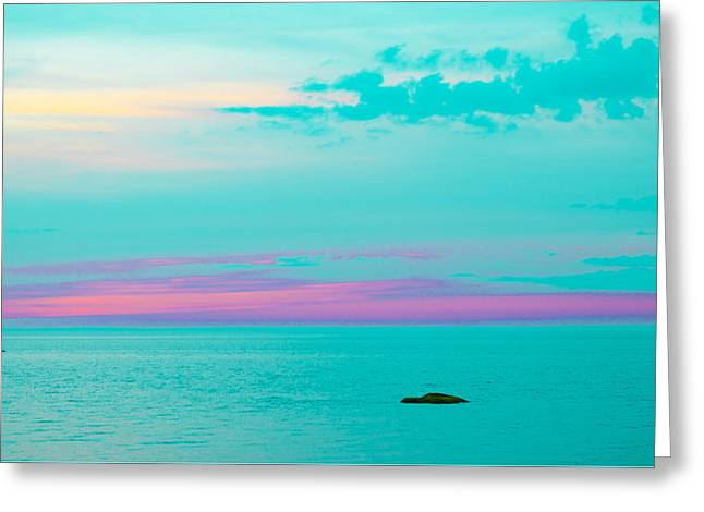 Haze Greeting Cards - Teal Seasations Greeting Card by Lauryn Vacey