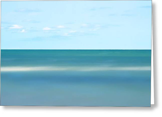 Ocean Art Photography Greeting Cards - Teal Tide Greeting Card by Photographs by Joules