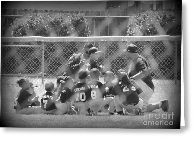 Player Greeting Cards - Team Work Greeting Card by Leah McPhail