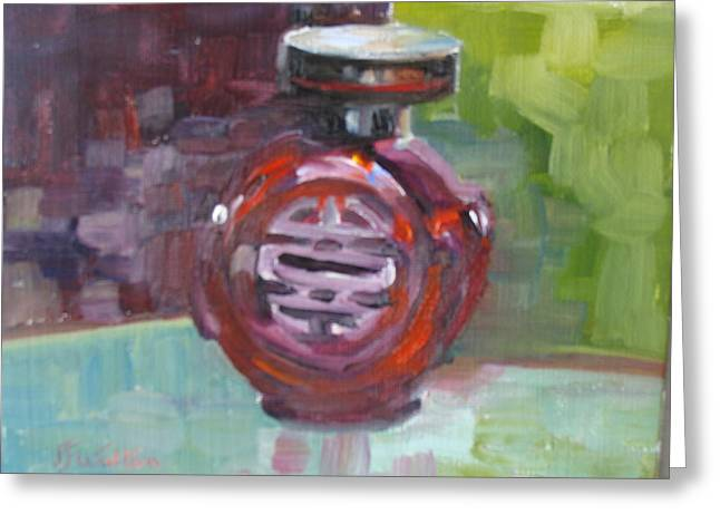 Bottle Of Perfume Greeting Cards - Tears of the Dragon Greeting Card by Judy Fischer Walton