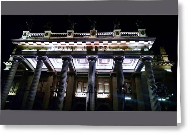 Theater Greeting Cards - Teatro Juarez  Greeting Card by Rosanne Licciardi