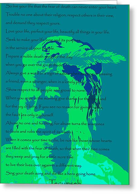 Tecumseh Greeting Card by David Strong