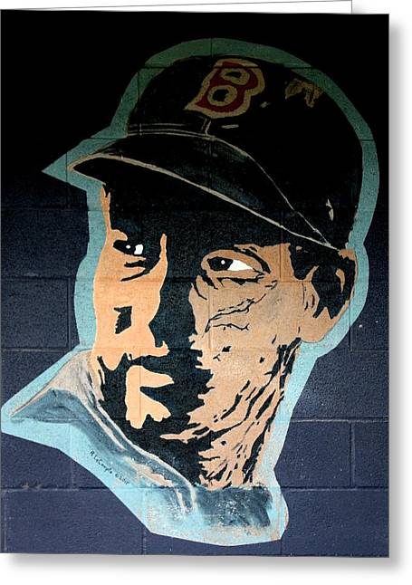Hitter Paintings Greeting Cards - Ted Williams Greeting Card by Ralph LeCompte