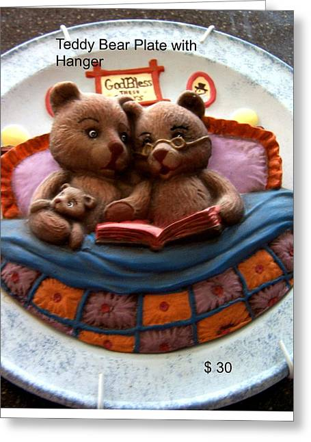 Decorative Ceramics Greeting Cards - Teddy Bear Greeting Card by Vijay Sharon Govender