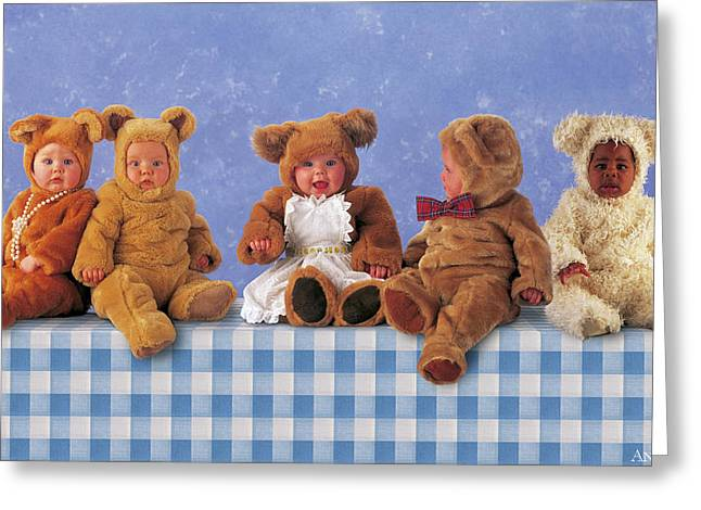 Baby Bear Greeting Cards - Teddy Bears Picnic Greeting Card by Anne Geddes