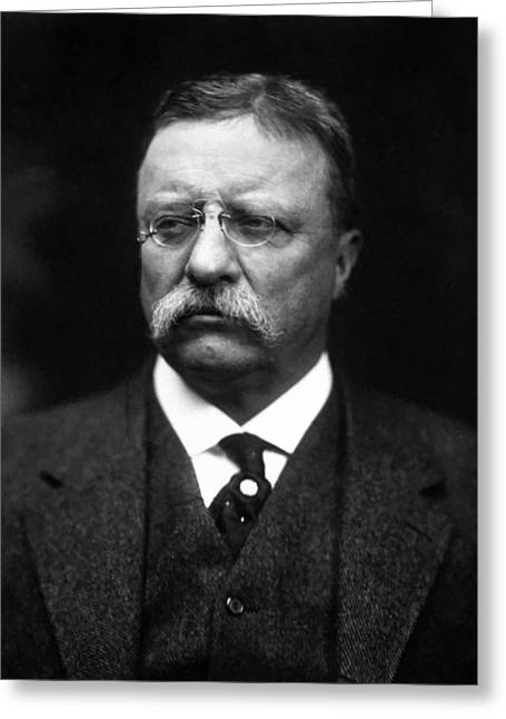 Rough Paintings Greeting Cards - Teddy Roosevelt Greeting Card by War Is Hell Store