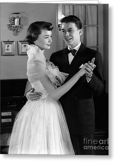 Teen Couple Dancing, C.1950s Greeting Card by H. Armstrong Roberts/ClassicStock