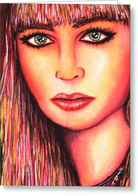 Autographed Mixed Media Greeting Cards - Teen Lost Greeting Card by Joseph Lawrence Vasile