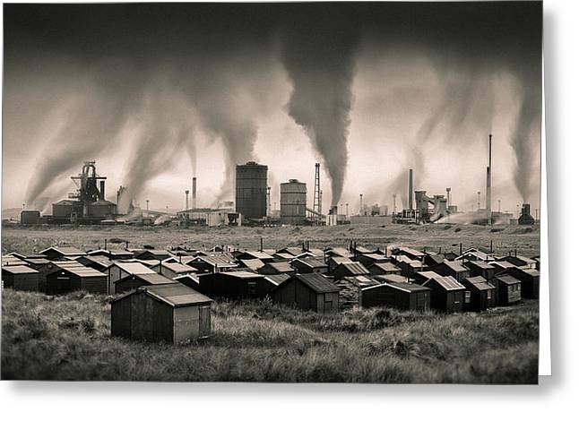Teesside Steelworks 1 Greeting Card by Dave Bowman