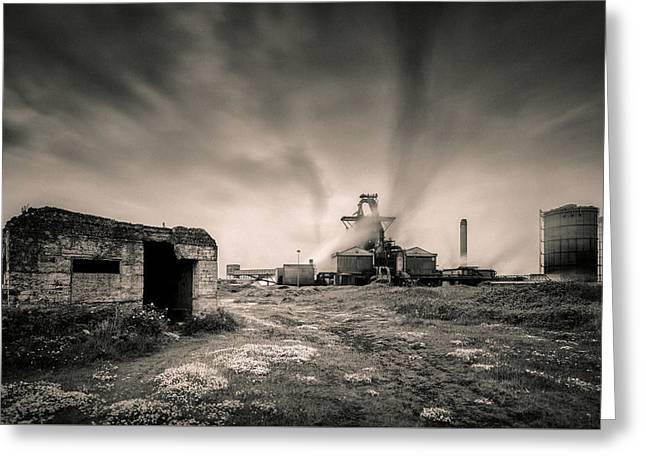 Teesside Steelworks 2 Greeting Card by Dave Bowman