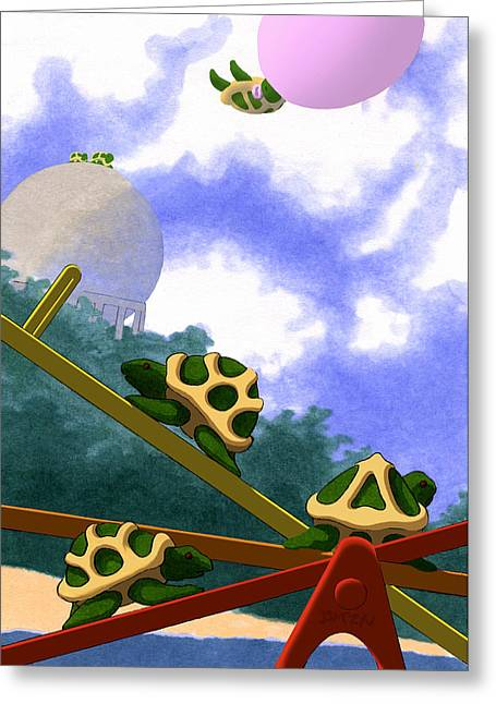 Teeter Greeting Card by Tom Dickson