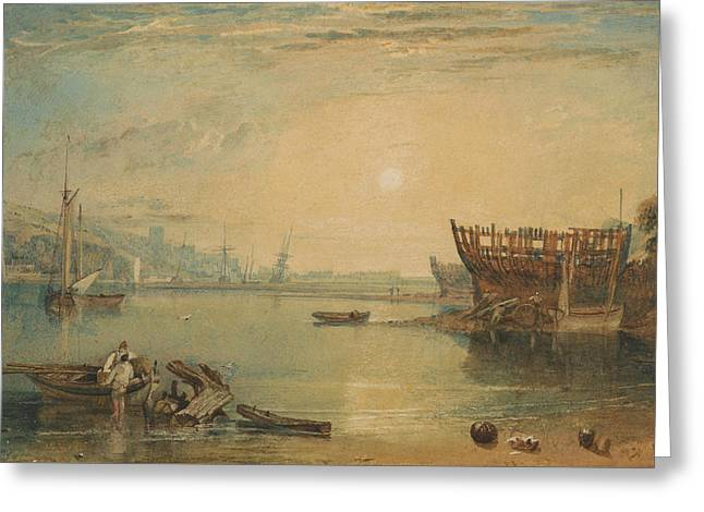 Teignmouth Devonshire Greeting Card by Joseph Mallord William Turner