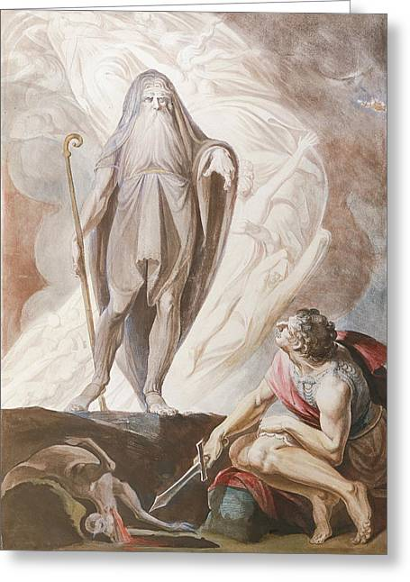 Swiss Paintings Greeting Cards - Teiresias Foretells the Future to Odysseus Greeting Card by Henry Fuseli