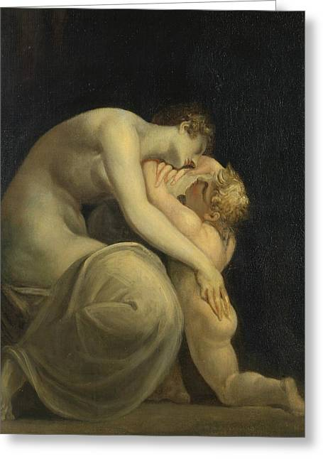 Swiss Paintings Greeting Cards - Tekemessa and Eurysakes Greeting Card by Henry Fuseli