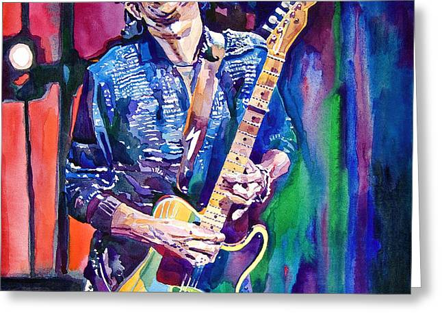 Telecaster- Keith Richards Greeting Card by David Lloyd Glover