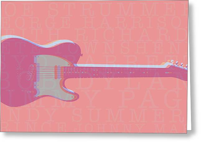 Bob Gibson Greeting Cards - Telecaster Players Greeting Card by Kyle Morris