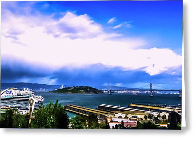 Telegraph Hill View Greeting Card by Phil Fitzgerald
