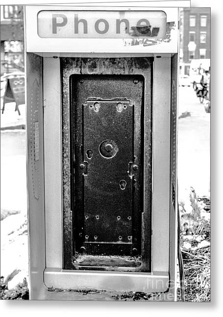 Telephone Booth Greeting Card by Victory  Designs