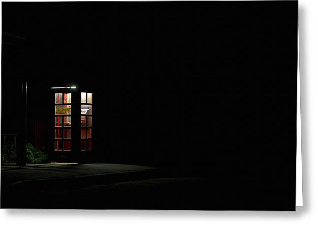 Walhalla Greeting Cards - Telephone Box Greeting Card by Craig Jenner