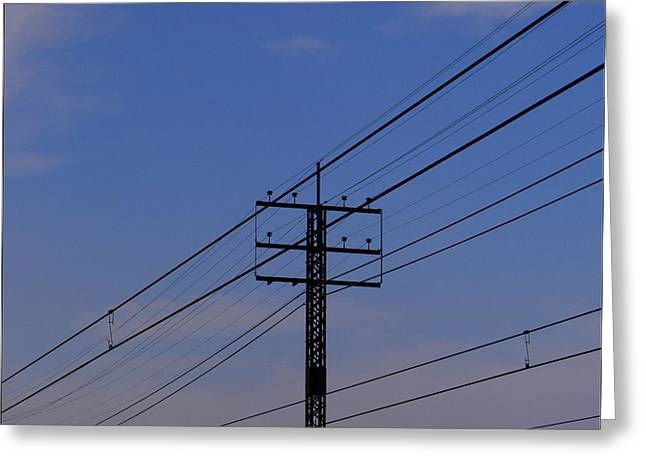 Telephone Lines Greeting Cards - Telephone Lines Greeting Card by Robert Ullmann